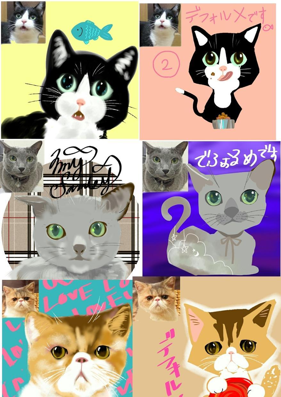 ペットのイラスト描きます 【我が家のアイドルイラスト】グッズ、名刺、アイコン用等完備