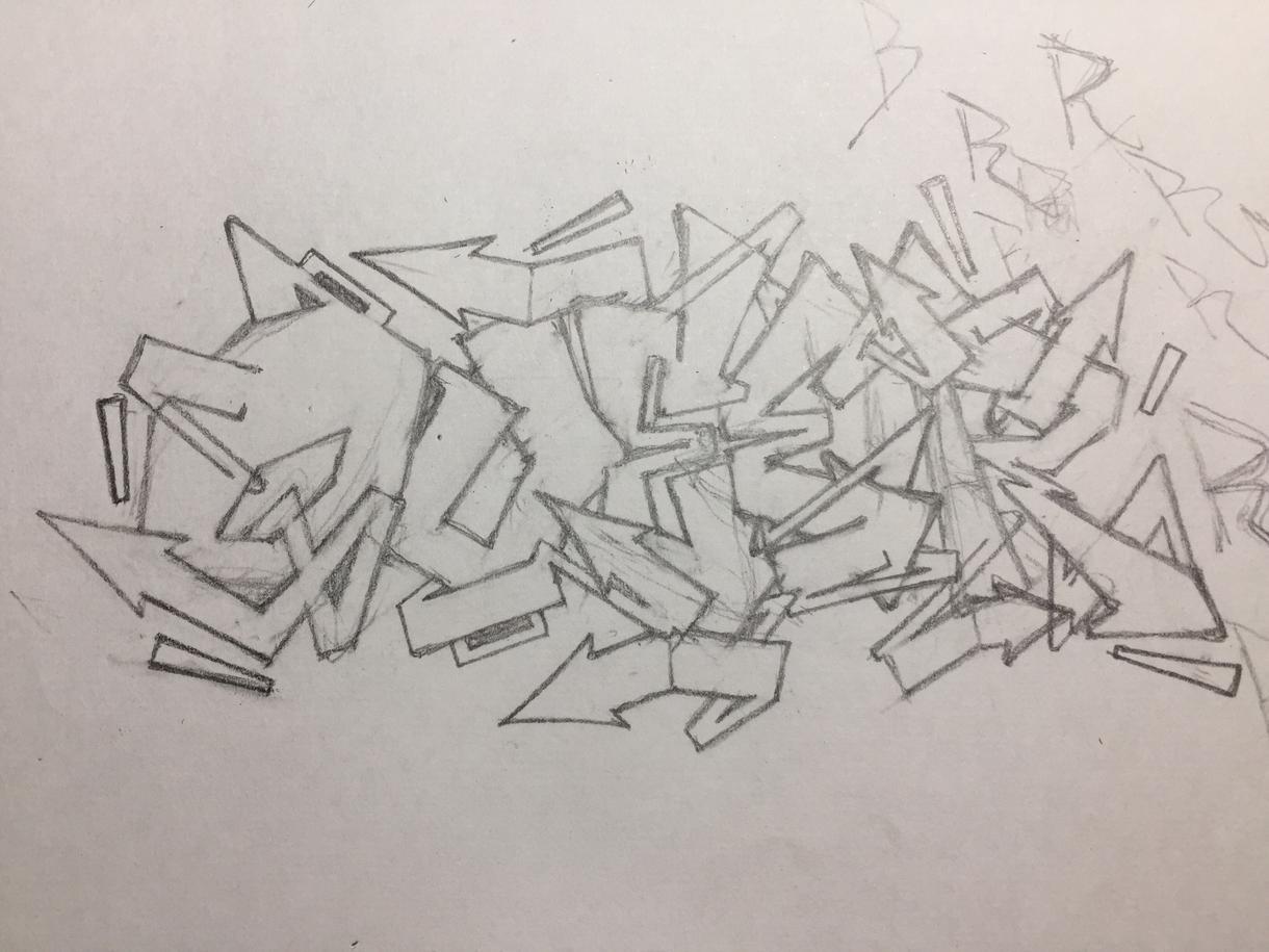 あなたの好きな言葉でグラフィティーアート描きます あなたの好きな言葉や単語をカタチに