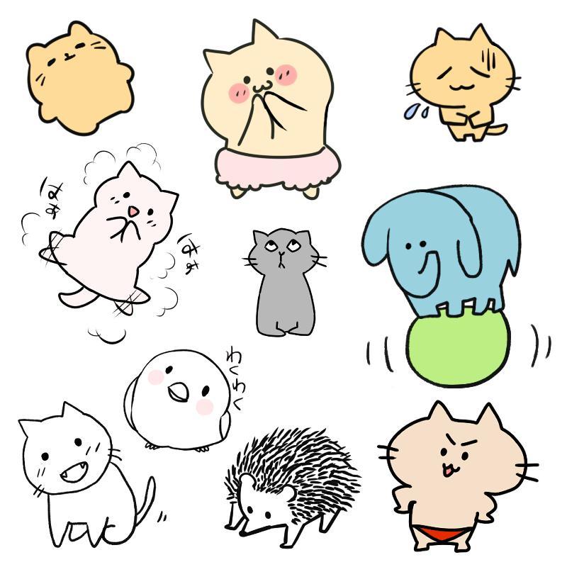 ペット&動物のデフォルメアイコン描きます LINEやTwitterなどのSNSのアイコンなどに!