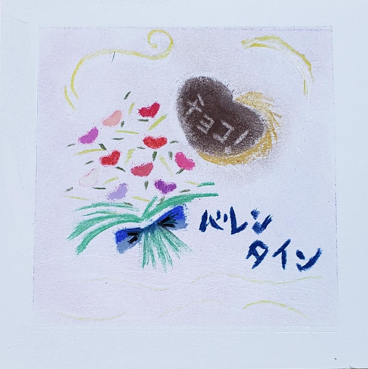 パステル和アートで、素敵な絵描きます 15センチ角の可愛いパステル画
