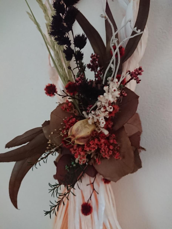 ボタニカルしめ縄予約受付ます ドライフラワーとプリザーブドフラワーを使用したお正月飾り