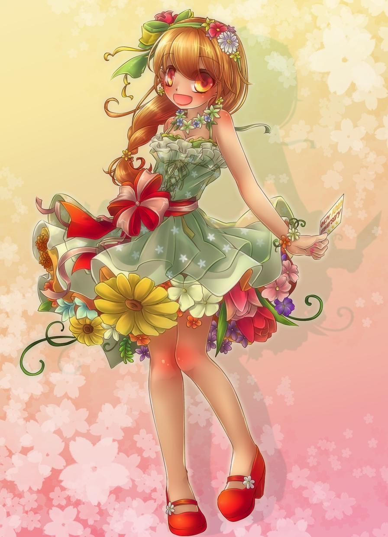 女の子イラスト描きます 全身絵OK!装飾多めで華やかなイラストを描きます!