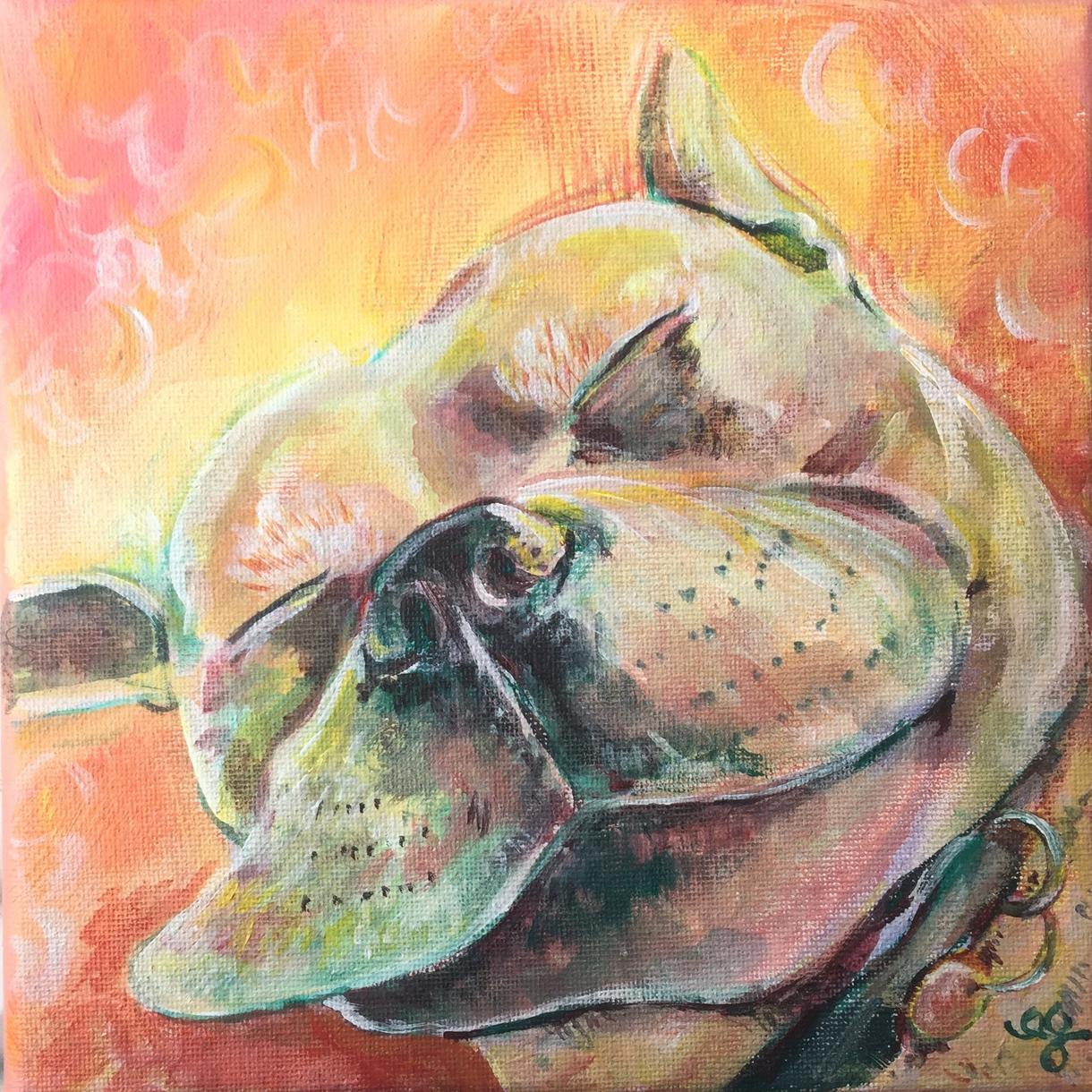 あなたのペット&お好きな動物のお顔描きます 海外路上絵描き経験有。愛情込めて描きます。(送料込) イメージ1