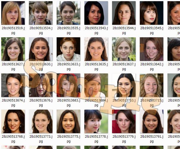 顔写真のフリー素材を100枚セットで提供します 商用利用その他OK!完全オリジナル画像です!