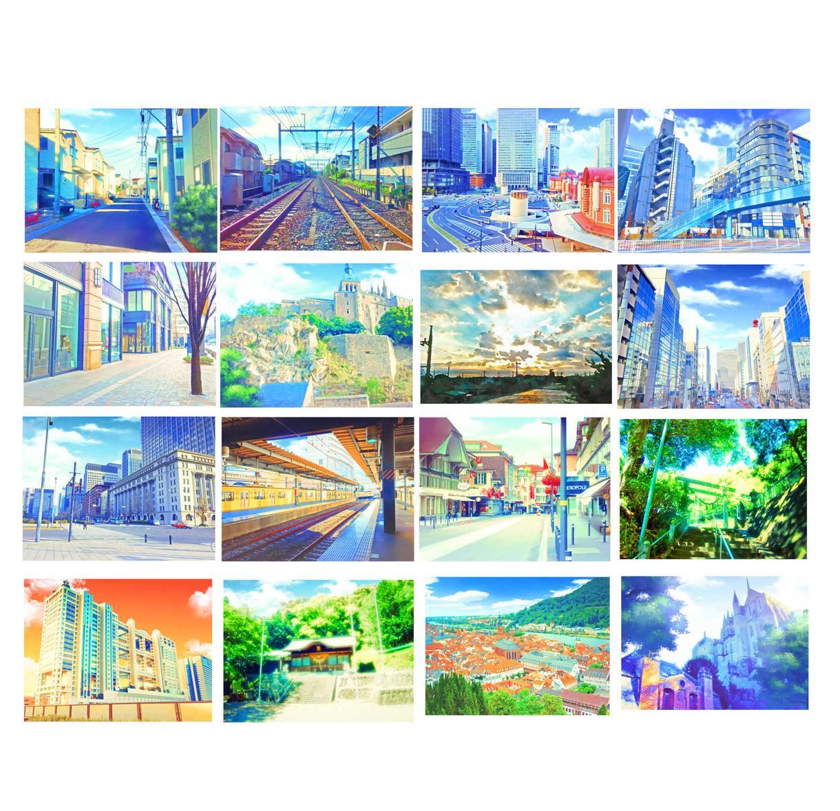 お手持ちの風景写真をアニメイラスト風に加工します 漫画やイラスト、ゲームなどの背景にいかがでしょうか?