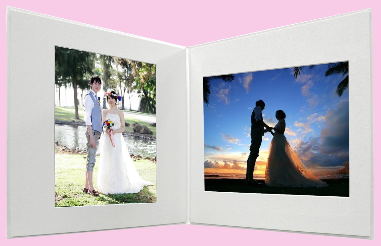 結婚 想い出の写真を綺麗な写真台紙アルバムにします ご自身で撮影した婚礼の写真を綺麗に色調整をして想い出に