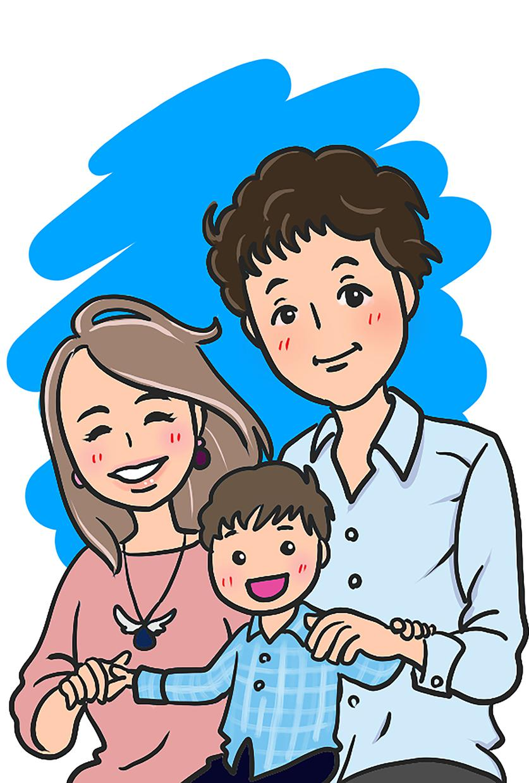 ウエディング★お祝い事に!似顔絵お描きします ゆる可愛めのイラストです。ご家族で記念の1枚はいかがですか? イメージ1
