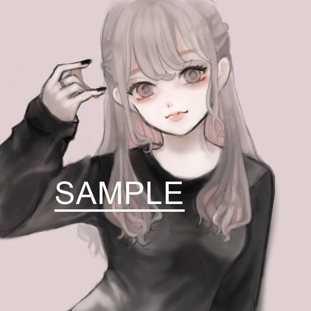 SNSアイコンに!厚塗りの女の子のアイコン描きます オリジナルアイコン制作いたします。似顔絵もOKです イメージ1