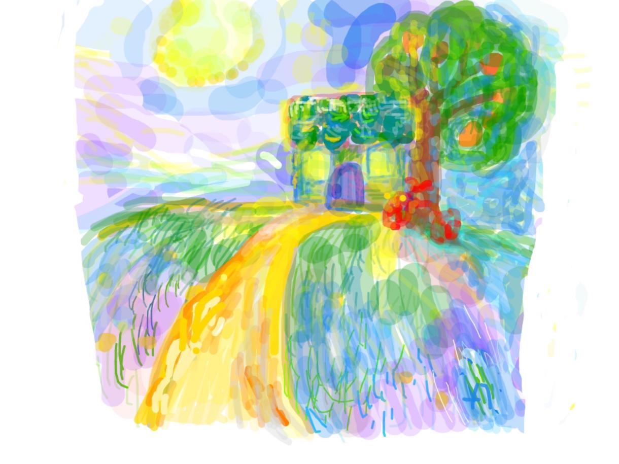 想い出の風景画像をメルヘンタッチの作品にします!