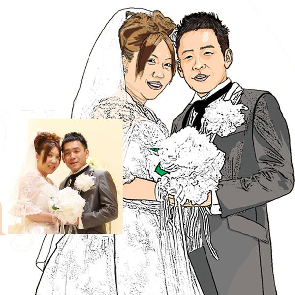 A4、2名、6000円ウェルカムボード制作します 結婚式、披露宴、結婚後のインテリアに最適