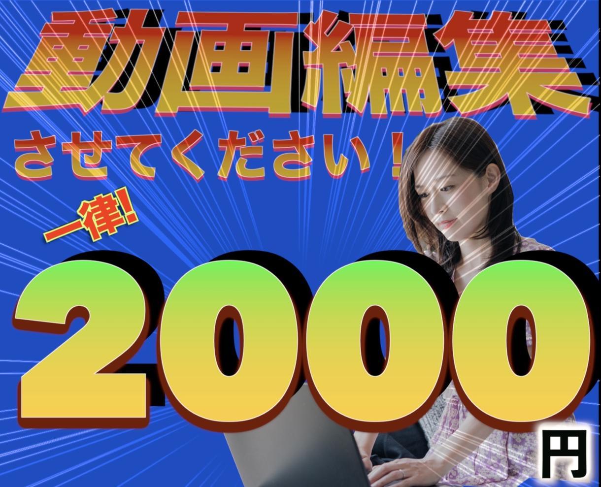 一律2000円で全て編集致します 私に編集させて下さい❗️❗️何分の動画でもいいです❗️ イメージ1