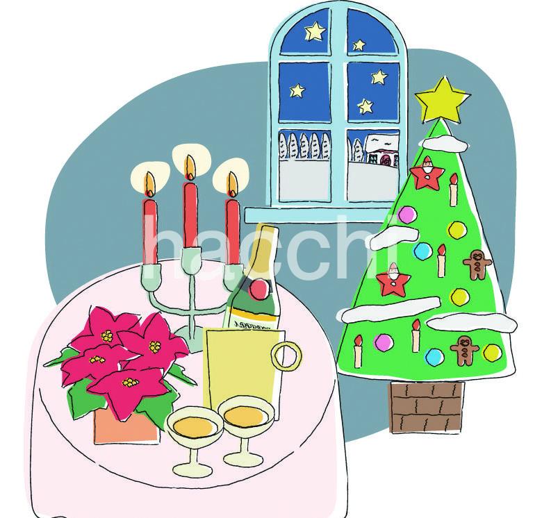 冬にもってこいのイラストを販売いたします クリスマスにぴったり。カードにいかが?