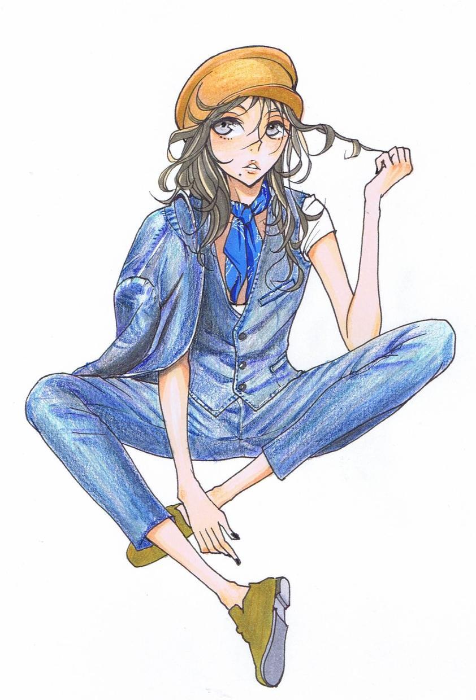 SNSアイコン、似顔絵、イラスト等お描き致します おしゃれ、ファッション、スタイリッシュ好きな方におすすめ★