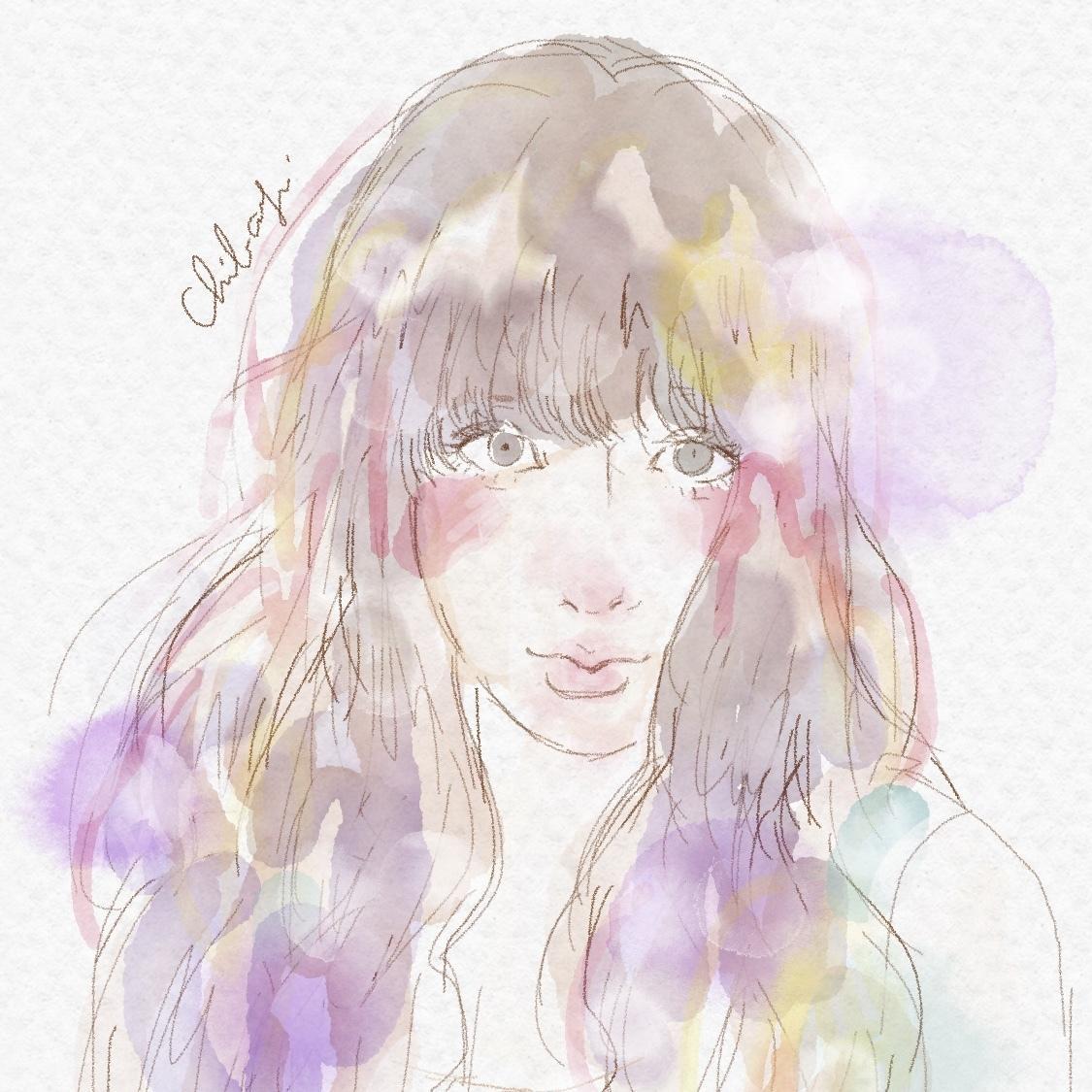 お写真をもとに!繊細な水彩似顔絵アイコン描きます 透明感が目を引きます!SNS、ブログ、名刺などにぜひ!