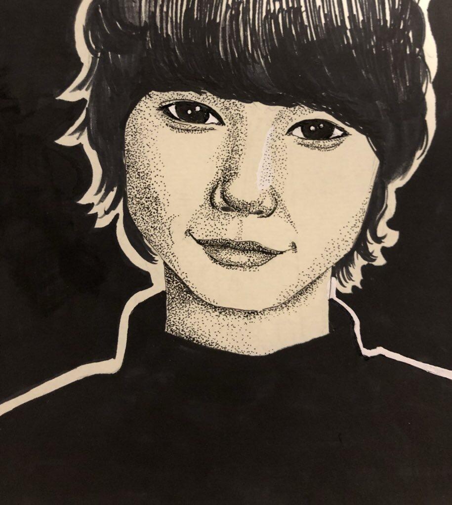インスタフォロワー様限定 似顔絵描きます ペンを使って点描で似顔絵を描きます!
