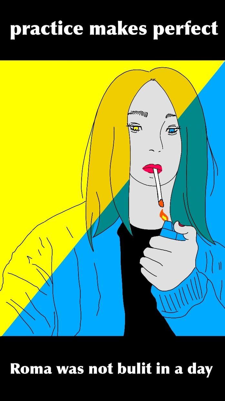 待ち受けやアイコンに使用できるような絵を描きます 似顔絵作成がメインとなります。 イメージ1