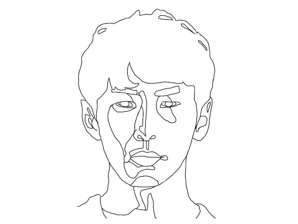 シンプルでリアルな似顔絵作成します ワイヤーアートのようなデザイン性!名刺やアイコン、ハンコにも