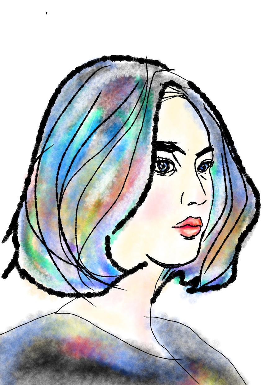 アートフルでおしゃれな似顔絵作ります スプレーアートのような仕上がりでポップでスタイリッシュです!