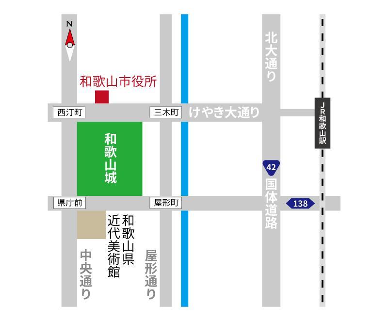【地図(略図)データ作成】 カラー指定可能!(FAX使用可能) タイプA イメージ1