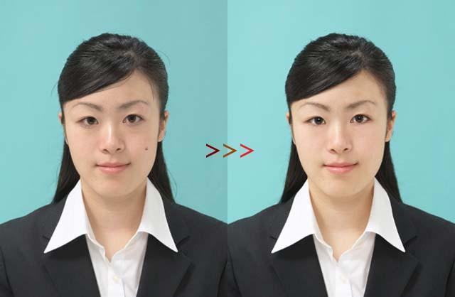 就職活動中の方必見!! あなたの証明写真をより美しく修正(レタッチ等)&加工をします。