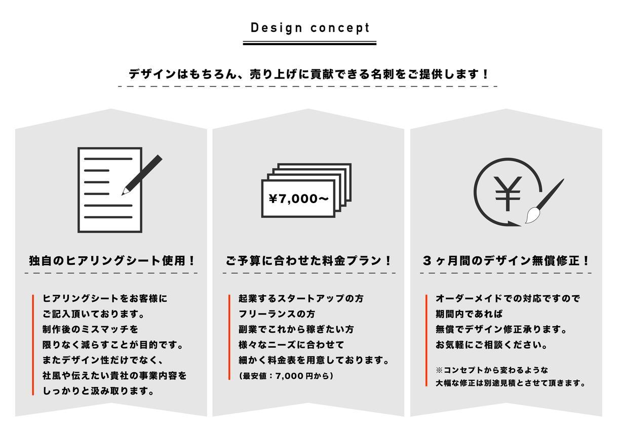 売り上げUPに貢献する名刺・ロゴデザイン提案します アイデアなくてOK!独自のヒアリングシートで1から対応可能!