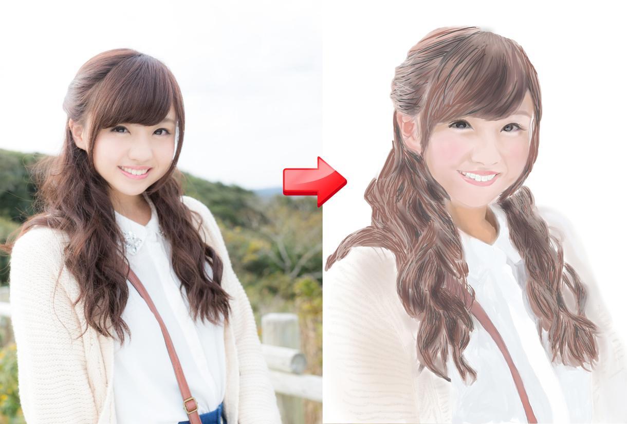 あなたの写真をもとに似顔絵のイラストを作ります あなたの写真をもとに似顔絵のイラストを作ります