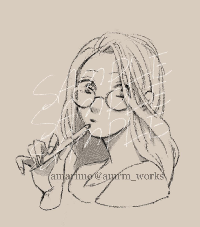 微デフォルメの似顔絵・イラスト描きます 鉛筆or万年筆ボールペン風ラフ画。デジタル。 イメージ1