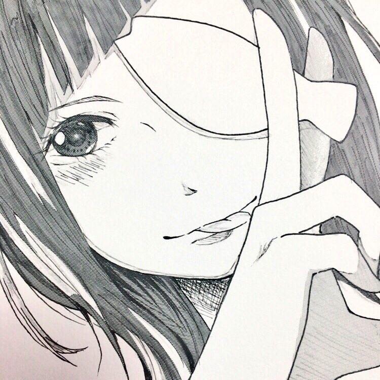 女の子キャラのモノクロアイコン描きます かわいい女の子の依頼待ってます!
