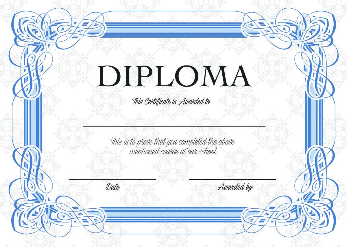 ディプロマをデザインいたします パーソナルスクールや資格等のディプロマ イメージ1