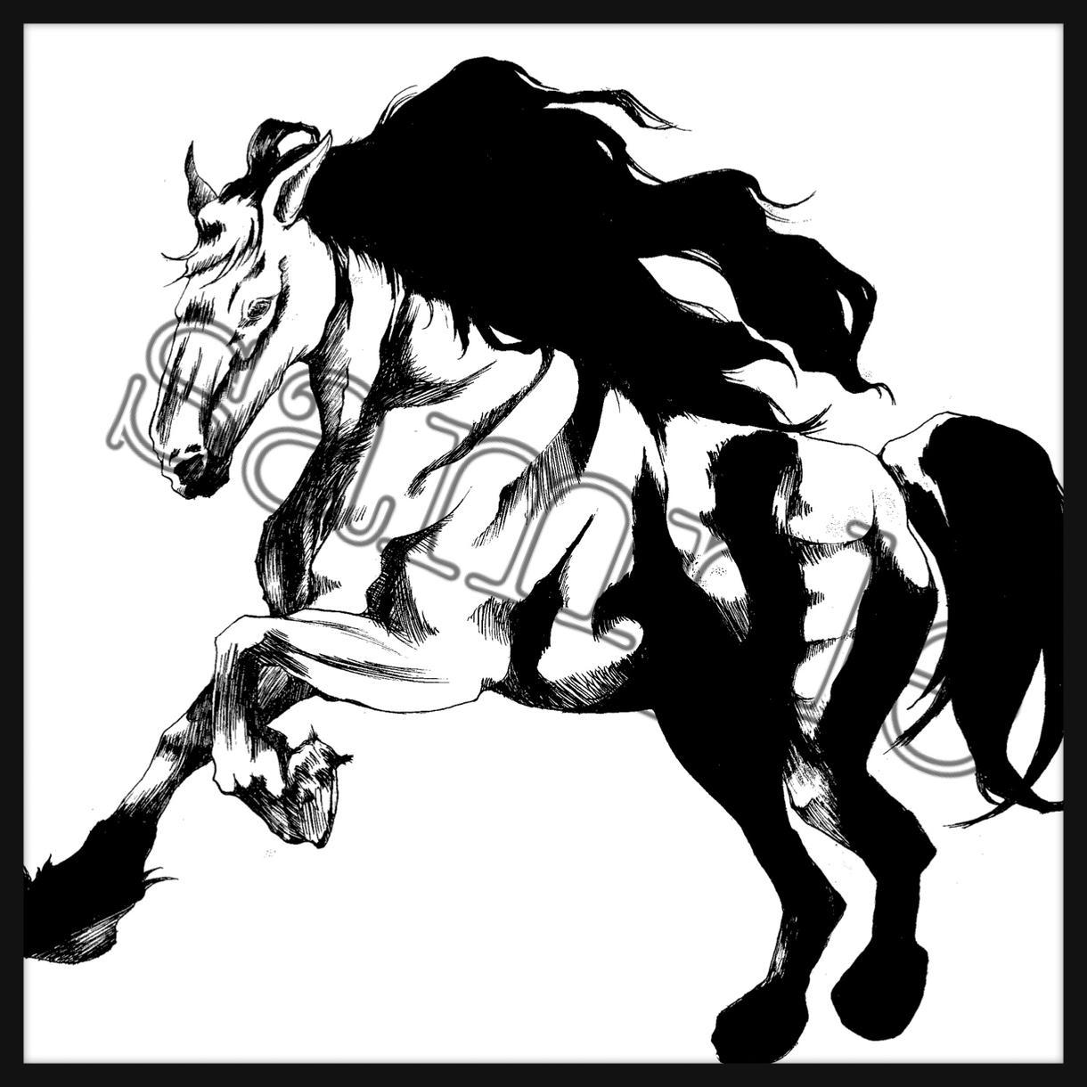 モノクロ クールなSNSのアイコンイラスト描きます 元アニメーターがご希望のオリジナルイラストをお描きします!