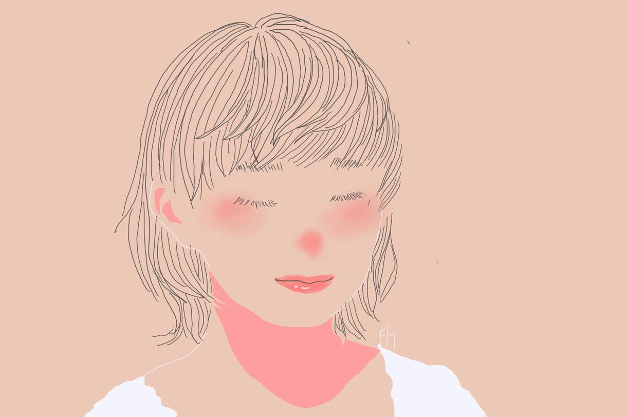 目を閉じてるSNSアイコンをゆるく描きます SNSでイラストで少し顔出ししたいよ!って思うあなたへ!