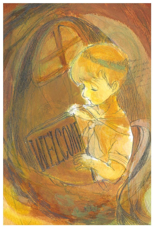 はがきサイズの紙にイラストを描きます 絵本の様な不思議な世界をあなたに