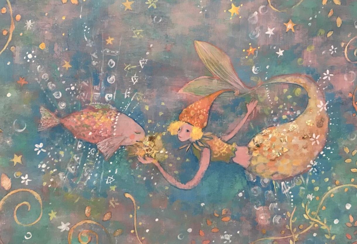 かわいいファンタジーなイラストを描きます 絵本風タッチの絵が好きな方、手描きのあたたかさが欲しい方へ イメージ1