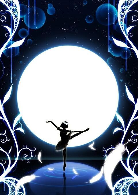 キラキラしたシルエット調のイラストお描きします 月や星、幻想的なものがお好きな方はぜひ!