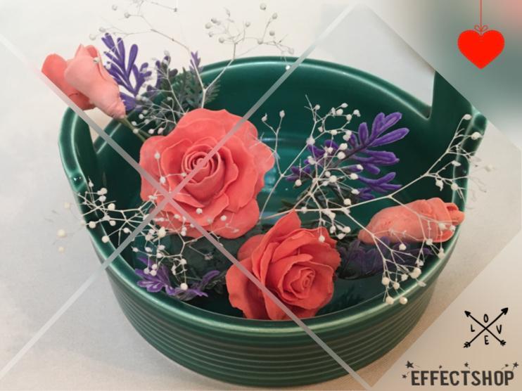 花びら1枚から作るフラワーソープの製作をします 国産石鹸粘土でオーダーで作ります。お祝い・お供え・お礼にも。
