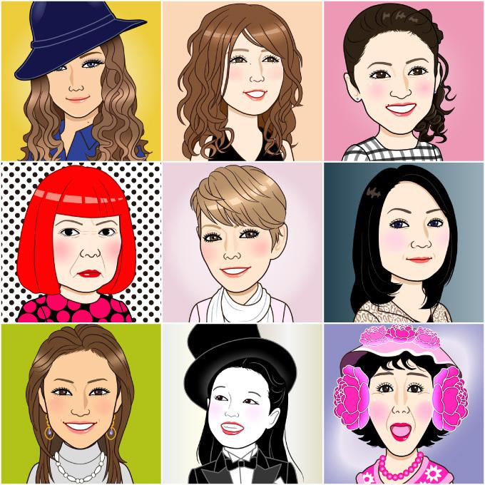 感じのいい似顔絵を作成致します 名刺、プレゼントやビジネスに!gifアニメ、ai納品可
