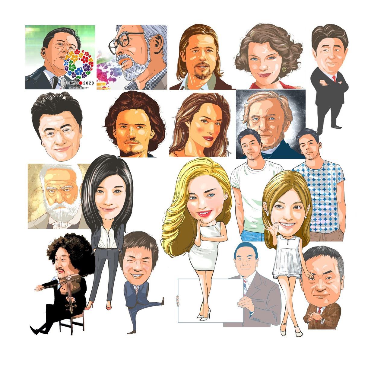 似顔絵描きます 3000人以上の似顔絵を作成してきました!