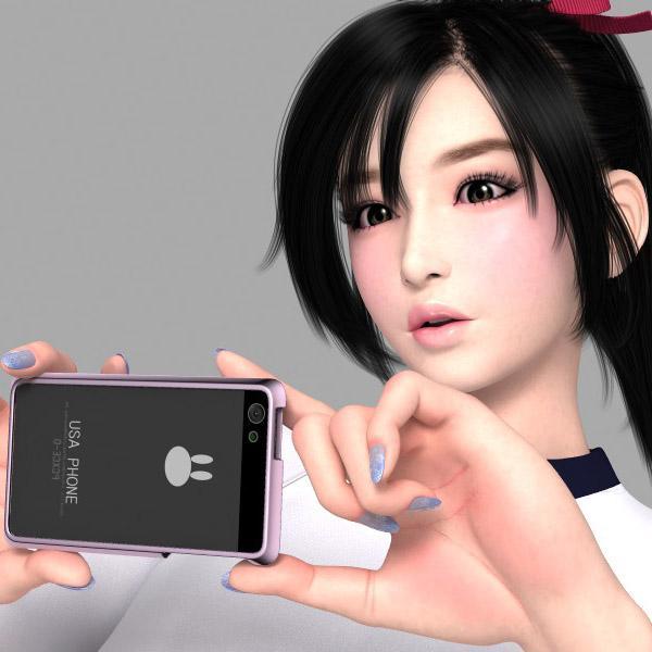 3DCGでオリジナルキャラクターイラストを制作します