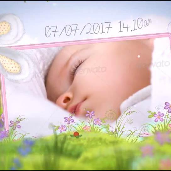 お子様の誕生と成長を可愛いアルバム動画で残せます お好きな写真で洗練されたハイクオリティーな映像を(M)