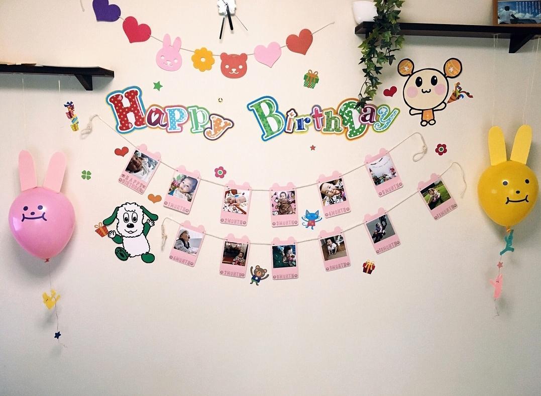 キャラクターや文字などの壁面制作をお作りします お子様、お友達、父母などのお誕生日などに大活躍!