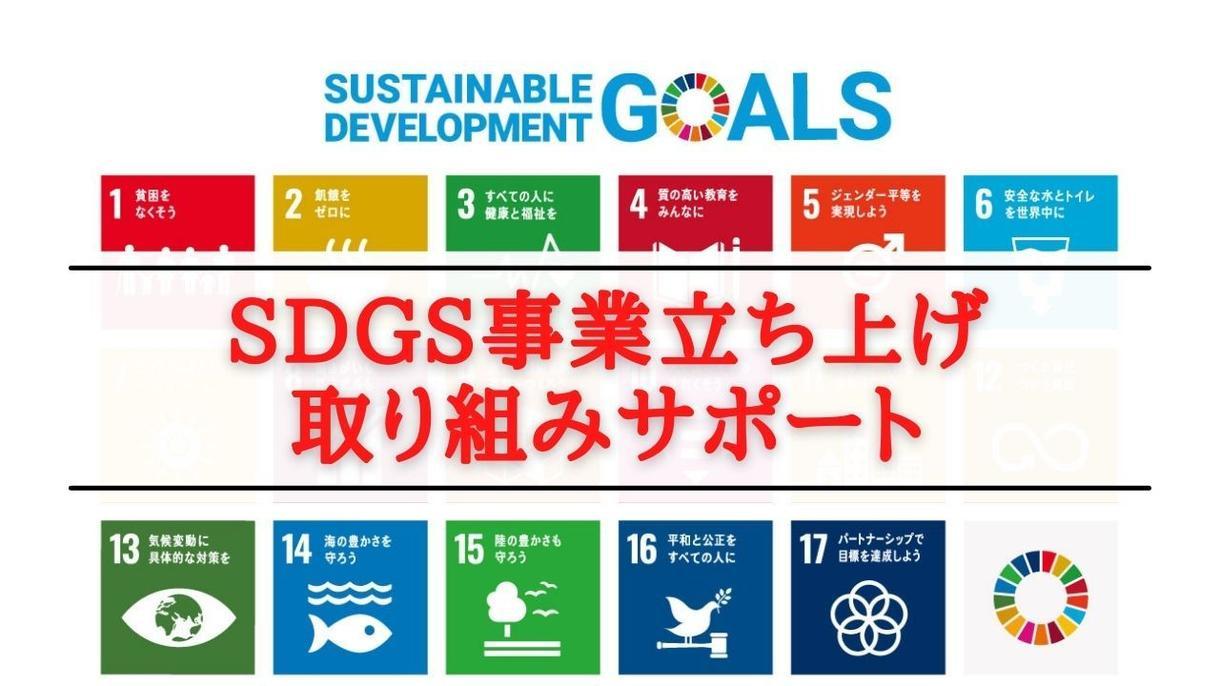 SDGs事業立ち上げを0からサポートいたします SDGsの取組、事業立ち上げを目指す個人・法人向け イメージ1