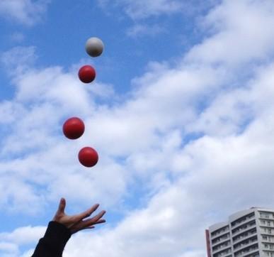 ジャグリング(お手玉)教えます 特技習得!脳活性・集中力UPに!基本技を伝授します! イメージ1