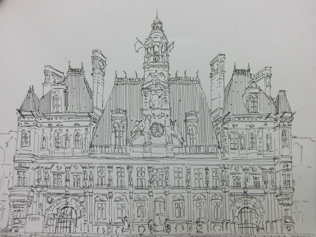 ペン画:建物や風景を手描きのイラストにします 個人利用や商用にも!ポスターや名刺、サイトにワンポイントを