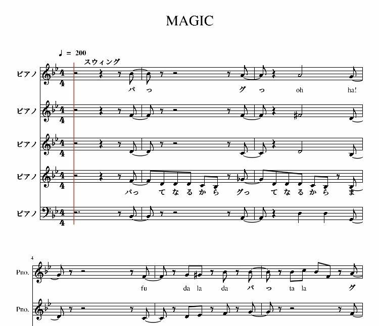 お好きな曲のアカペラ楽譜作ります 文化祭・サークル活動・宴会の出し物などにオススメ! イメージ1