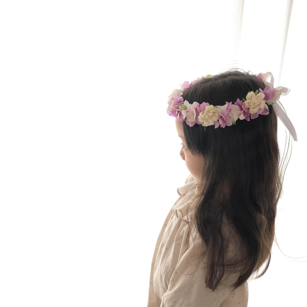 お子さま用花冠オーダー承ります 最高に可愛い1枚を撮るために♡誕生日、記念写真、リングガール