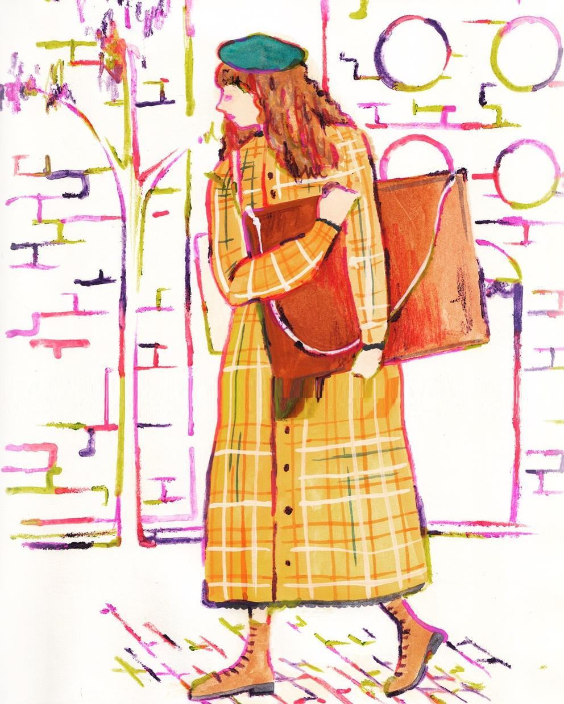 オシャレで差がつくイラストご提供します ふにゃっと優しい、外国風ファッションイラスト