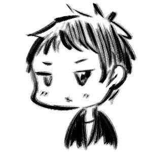 可愛い似顔絵を筆で描きます