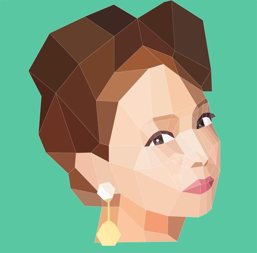似顔絵をおしゃれにポリゴンスタイルで仕上げます 個性的なポリゴンスタイルアート