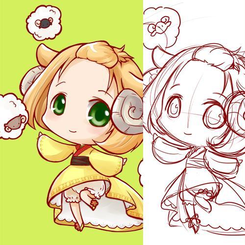 【ハガキサイズまで】ミニキャラクターを描きます!