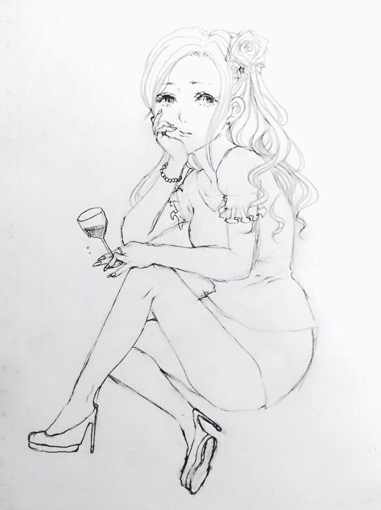 イラストの下描きから線画のペン入れをさせて頂きます ペン入れが苦手な方、お手伝いさせてください♡